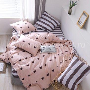 Комплект постельного белья Делюкс Сатин на резинке LR209 в интернет-магазине Моя постель