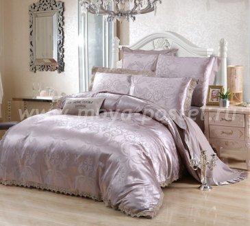 Комплект постельного белья жаккард с вышивкой H053 (семейный) в интернет-магазине Моя постель