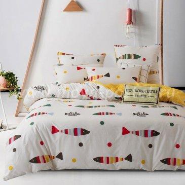 Комплект постельного белья Делюкс Сатин на резинке LR159 в интернет-магазине Моя постель