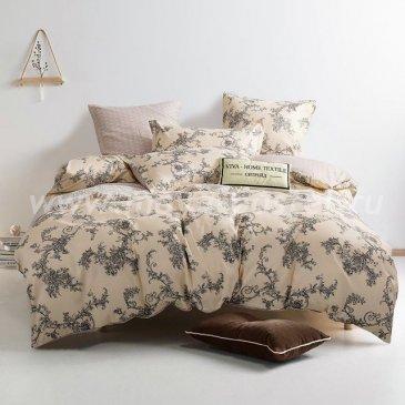 Комплект постельного белья Сатин вышивка на резинке CNR047 в интернет-магазине Моя постель