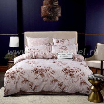 Комплект постельного белья Сатин вышивка на резинке CNR059 в интернет-магазине Моя постель