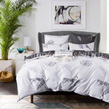 Комплект постельного белья Сатин Элитный на резинке CPLR014 (двуспальный 140х200) в интернет-магазине Моя постель