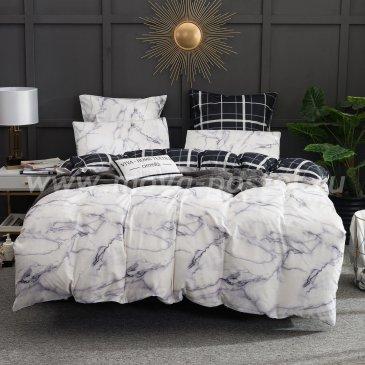 Комплект постельного белья Сатин Элитный на резинке CPLR018, евро 160х200 в интернет-магазине Моя постель
