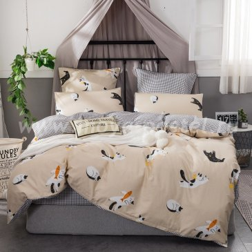 Комплект постельного белья Сатин Элитный на резинке CPLR019 (двуспальный 140х200) в интернет-магазине Моя постель