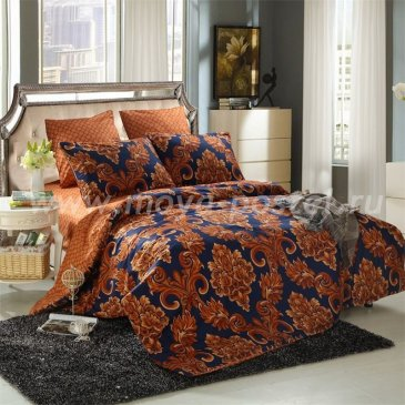 Комплект постельного белья Сатин подарочный на резинке ACR030, двуспальный 160х200 в интернет-магазине Моя постель