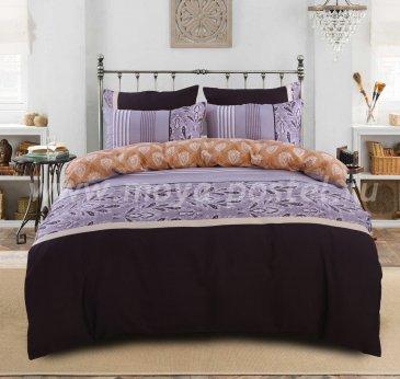 Комплект постельного белья Сатин подарочный на резинке ACR054, евро 140х200 в интернет-магазине Моя постель