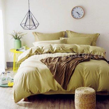 Постельное белье Однотонный страйп-сатин на резинке CTR003 (двуспальное 160х200) в интернет-магазине Моя постель