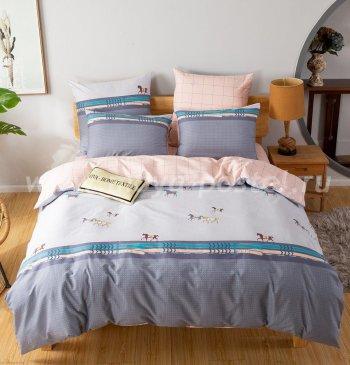 Комплект постельного белья Делюкс Сатин на резинке LR194 в интернет-магазине Моя постель