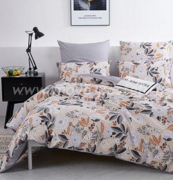 Комплект постельного белья Делюкс Сатин на резинке LR204 в интернет-магазине Моя постель