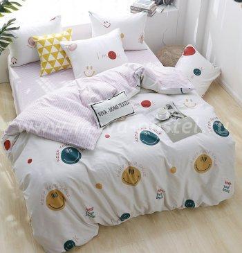 Комплект постельного белья Люкс-Сатин на резинке AR097, евро (140х200) в интернет-магазине Моя постель