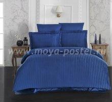 """Постельное белье бамбук """"KARNA"""" PERLA (Eвро) 50x70*2 70x70*2 (синий) в интернет-магазине Моя постель"""
