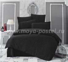 """Постельное белье бамбук """"KARNA"""" PERLA (Eвро) 50x70*2 70x70*2 (черный) в интернет-магазине Моя постель"""