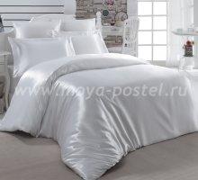 """Постельное белье шелк """"KARNA"""" ARIN (Евро) 50x70*2 70x70*2 (белое) в интернет-магазине Моя постель"""