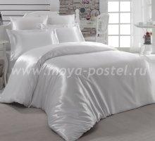 """Постельное белье шелк """"KARNA"""" ARIN (Евро) 50x70*2 70x70*2 (кремовое) в интернет-магазине Моя постель"""