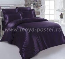 """Постельное белье шелк """"KARNA"""" ARIN (Евро) 50x70*2 70x70*2 (фиолетовое) в интернет-магазине Моя постель"""