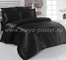 """Постельное белье шелк """"KARNA"""" ARIN (Евро) 50x70*2 70x70*2 (черное) в интернет-магазине Моя постель"""