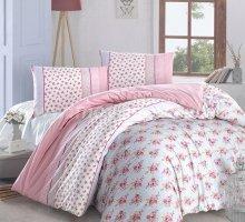 """Постельное белье """"RANFORCE"""" AHSEN ( Eвро ) 50х70*2 шт розовый в интернет-магазине Моя постель"""