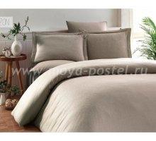 """Постельное белье """"KARNA"""" RUYA бамбук (Евро) 200x220 (50x70)*4, визон в интернет-магазине Моя постель"""