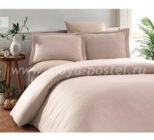 """Постельное белье """"KARNA"""" RUYA бамбук (Евро) 200x220 (50x70)*4, бежевый в интернет-магазине Моя постель"""