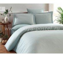"""Постельное белье """"KARNA"""" RUYA бамбук (Евро) 200x220 (50x70)*4, ментол в интернет-магазине Моя постель"""