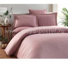 """Постельное белье """"KARNA"""" RUYA бамбук (Евро) 200x220 (50x70)*4, пудра в интернет-магазине Моя постель"""