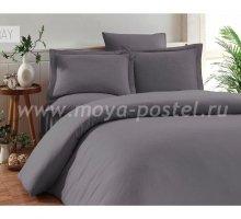 """Постельное белье """"KARNA"""" RUYA бамбук (Евро) 200x220 (50x70)*4, серый в интернет-магазине Моя постель"""