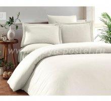 """Постельное белье """"KARNA"""" RUYA бамбук (Евро) 200x220 (50x70)*4, экрю в интернет-магазине Моя постель"""
