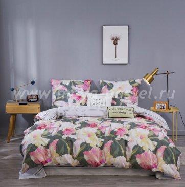 Комплект постельного белья Сатин C361, полуторный 50х70 в интернет-магазине Моя постель