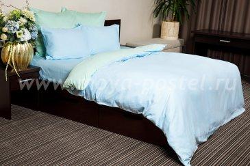КПБ Ночь Нежна Мятный мусс  Поплин двуспальный 50х70 в интернет-магазине Моя постель