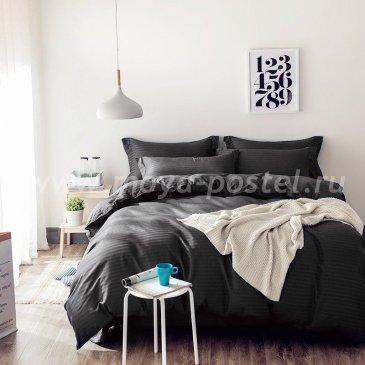 Постельное белье Однотонный страйп-сатин CT002 в интернет-магазине Моя постель
