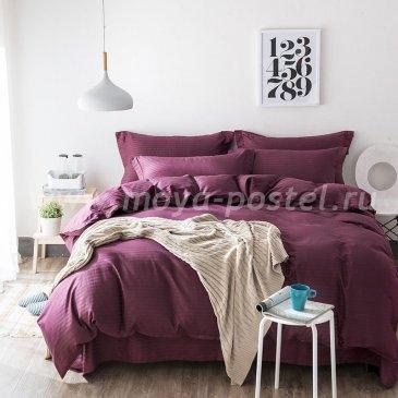Постельное белье Однотонный страйп-сатин на резинке CTR004 в интернет-магазине Моя постель