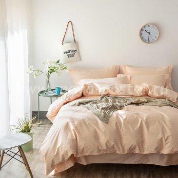 Постельное белье Однотонный страйп-сатин на резинке CTR007 в интернет-магазине Моя постель