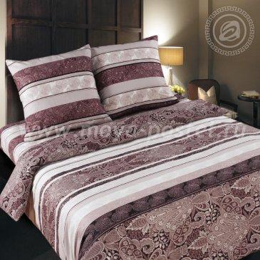 Поплин ВОСТОЧНЫЕ УЗОРЫ (КОРИЧНЕВЫЕ)   (1,5сп) в интернет-магазине Моя постель
