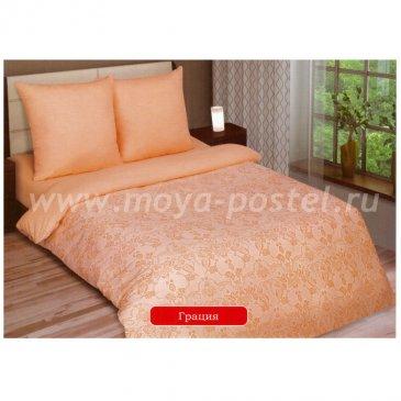 Поплин ГРАЦИЯ - ПЕРСИК   (1,5сп) в интернет-магазине Моя постель