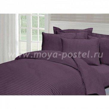 Страйп-сатин ЧЕРНИКА   (1,5сп) в интернет-магазине Моя постель