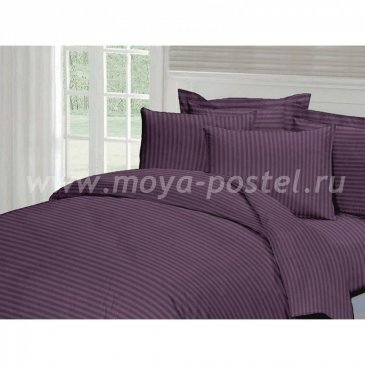 Страйп-сатин ЧЕРНИКА   (2,0сп макси) в интернет-магазине Моя постель