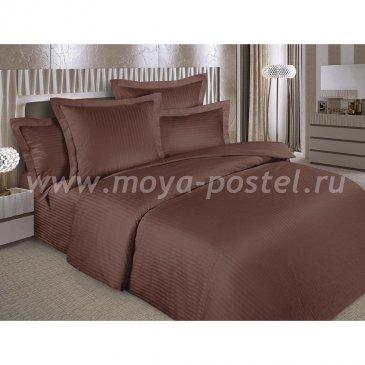 Страйп-сатин ШОКОЛАД   (Евро) в интернет-магазине Моя постель