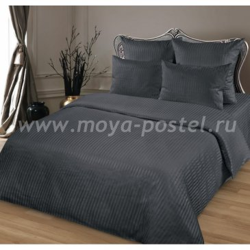 Страйп-сатин МОКРЫЙ АСФАЛЬТ   (Семейный) в интернет-магазине Моя постель