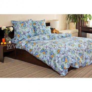 Сатин ГУЛИ (голубой)   (Евро) в интернет-магазине Моя постель