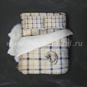 Поликоттон КЛЕТКА   (1,5сп с 1нав) в интернет-магазине Моя постель
