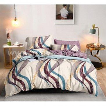 Постельное белье на резинке Поплин ВОЛНА (Евро) в интернет-магазине Моя постель