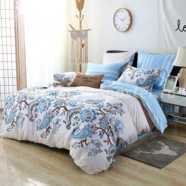 Комплект постельного белья Люкс-Сатин на резинке AR066, семейный 140х200 в интернет-магазине Моя постель