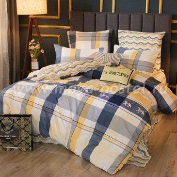 Комплект постельного белья Делюкс Сатин на резинке LR228, евро 140х200 в интернет-магазине Моя постель