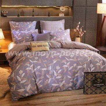 Комплект постельного белья Делюкс Сатин на резинке LR229, двуспальный 140х200, наволочки 70х70 в интернет-магазине Моя постель