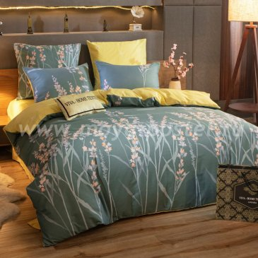 Комплект постельного белья Делюкс Сатин на резинке LR233, двуспальный 180х200, наволочки 50х70 в интернет-магазине Моя постель