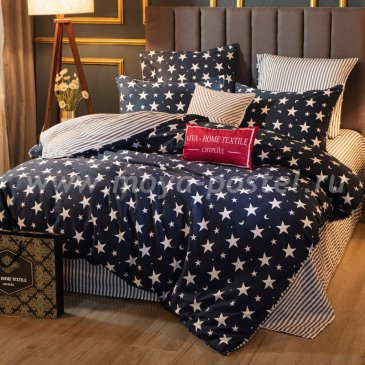 Комплект постельного белья Делюкс Сатин на резинке LR242, двуспальный 140х200, наволочки 50х70 в интернет-магазине Моя постель