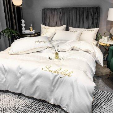 Постельное белье Сатин Однотонный с Вышивкой DHA005 в интернет-магазине Моя постель
