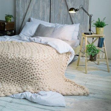 Плед из толстой пряжи Hygge Dome (100% шерсть) 90х150 Отбелка в каталоге интернет-магазина Моя постель