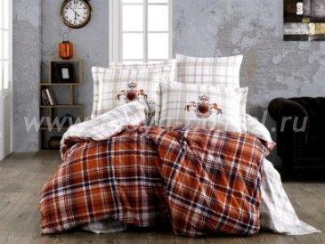 """КПБ 1,5 сп. (Евро) поплин """"ADALIA"""", оранжевый, 100% Хлопок в интернет-магазине Моя постель"""