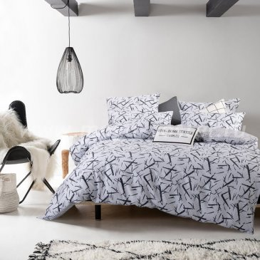 Комплект постельного белья Люкс-Сатин на резинке AR077, двуспальное  с простыней 180х200 в интернет-магазине Моя постель